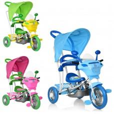 Велосипед трехколесный с ручкой детский Bambi B 3-9  6012, EVA колеса, микс цветов