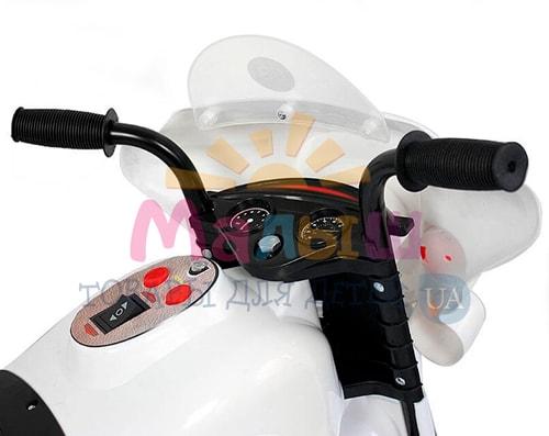 направления движения вперед и назад детского белого мотоцикла Bambi M 4251-1