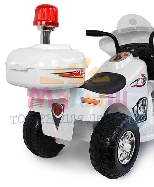 мигалка детского белого мотоцикла Bambi M 4251-1