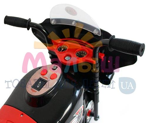 направления движения вперед и назад детского черного мотоцикла Bambi M 4251-2
